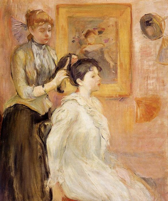famous painting The Hairdresser of Berthe Morisot