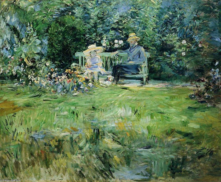 famous painting The Lesson in the Garden of Berthe Morisot