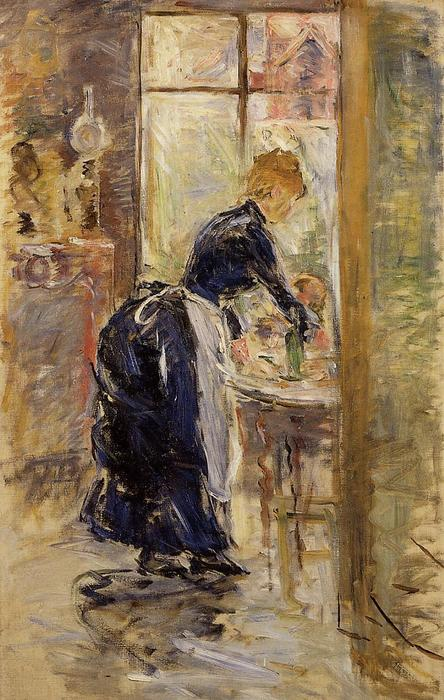 famous painting The Little Maid Servant of Berthe Morisot