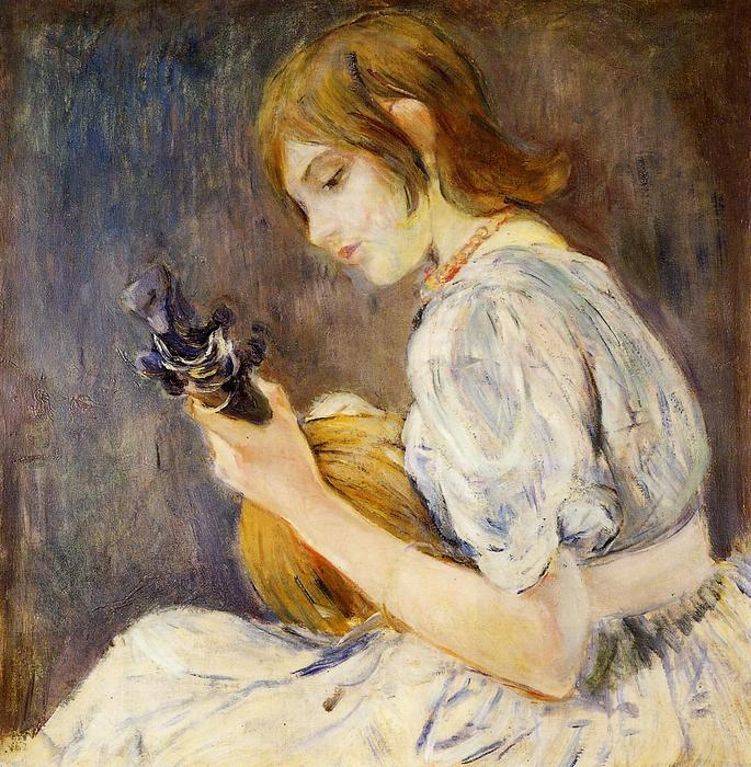 famous painting The Mandolin of Berthe Morisot