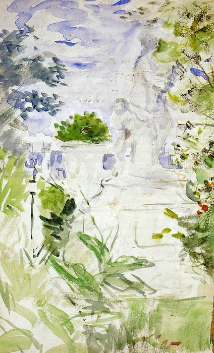 famous painting The Tuileries of Berthe Morisot