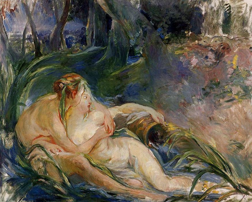 famous painting Two Nymphs Embracing of Berthe Morisot