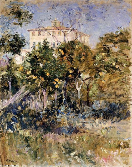 famous painting Villa with Orange Trees, Nice of Berthe Morisot