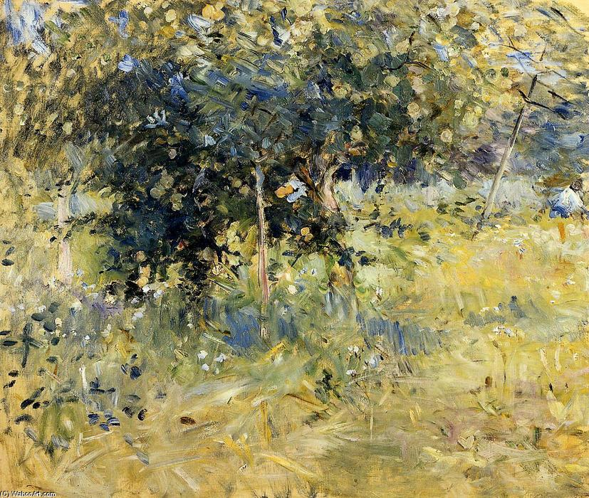famous painting Willows in the Garden at Bougival of Berthe Morisot
