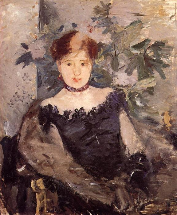 famous painting Woman in Black of Berthe Morisot