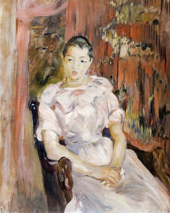 famous painting Young Girl Resting of Berthe Morisot