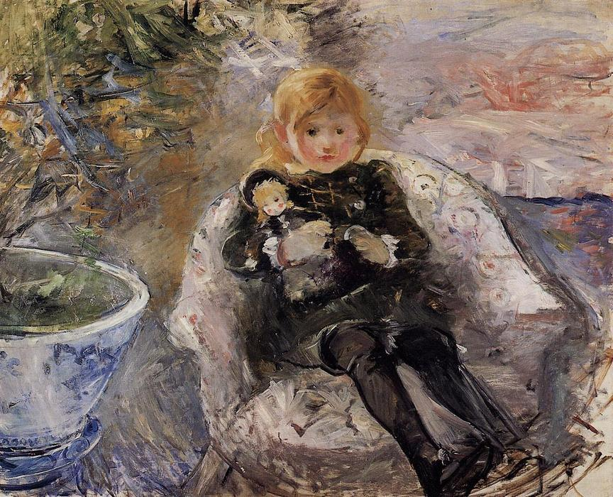 famous painting Young Girl with Doll 1 of Berthe Morisot