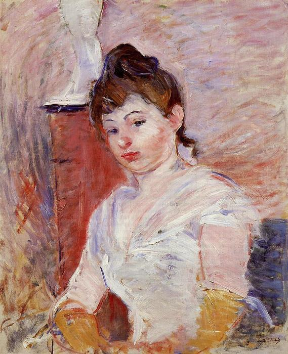 famous painting Young Woman in White of Berthe Morisot