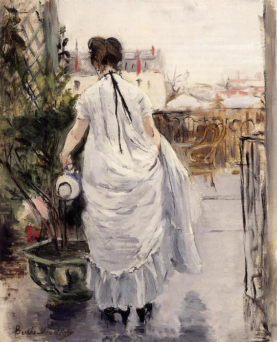 famous painting Young Woman Watering a Shrub of Berthe Morisot
