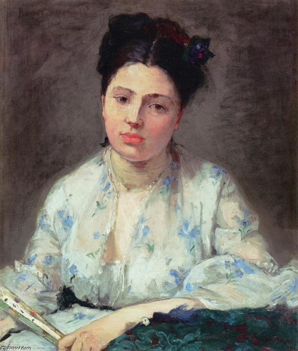 famous painting Young Woman of Berthe Morisot