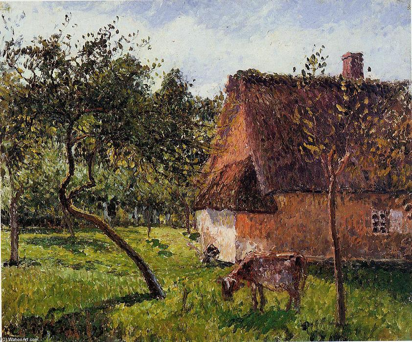 famous painting A Field in Varengeville of Camille Pissarro