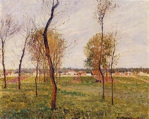 Camille Pissarro - A Meadow in Moret