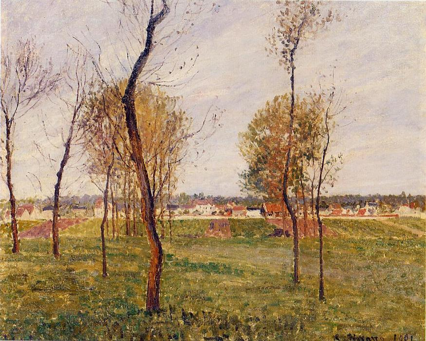 famous painting A Meadow in Moret of Camille Pissarro