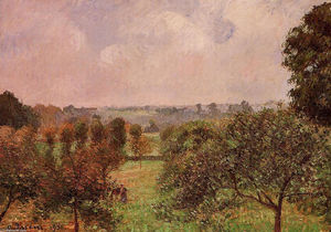 Camille Pissarro - After the Rain, Autumn, Eragny