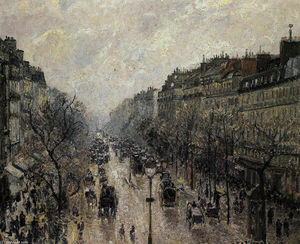 Camille Pissarro - Boulevard Montmartre Foggy Morning
