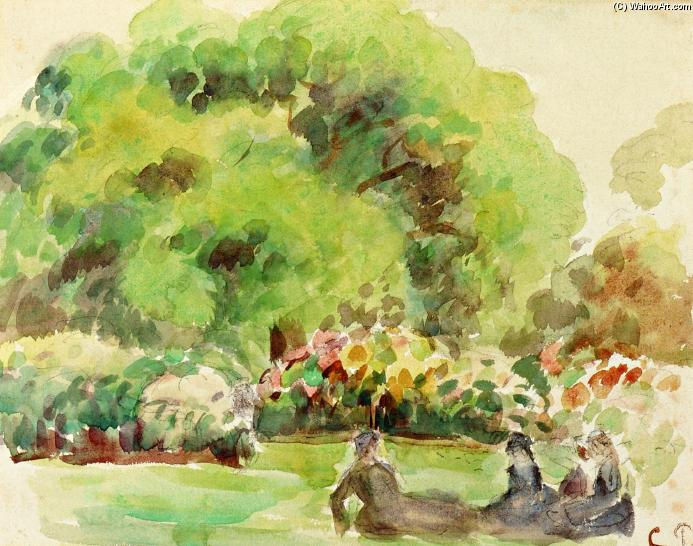famous painting Cagnes Landscape of Camille Pissarro