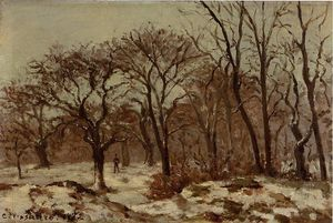 Camille Pissarro - Chestnut Orchard in Winter