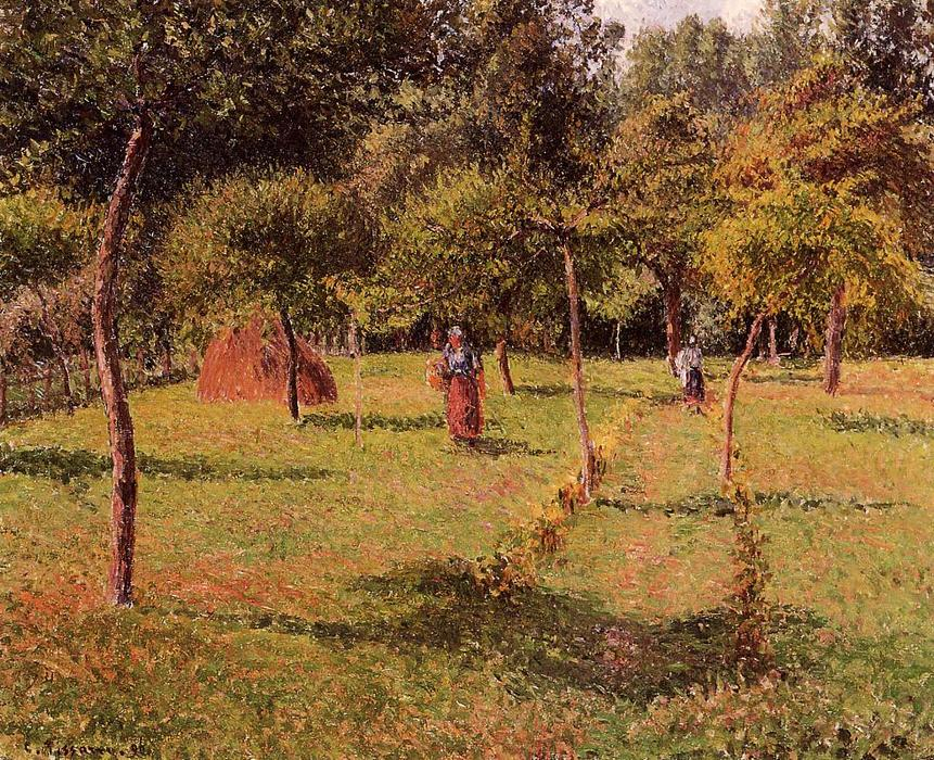 famous painting Enclosed Field at Eragny of Camille Pissarro