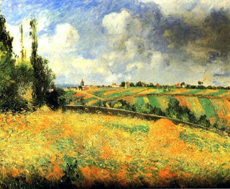 famous painting Fields of Camille Pissarro