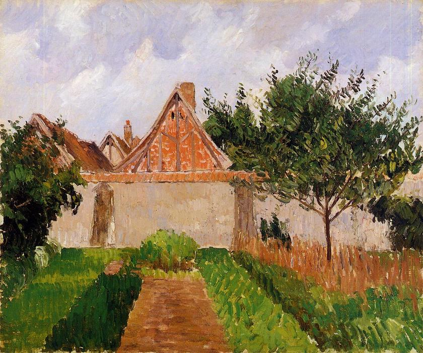 famous painting Garden at Eragny (study) of Camille Pissarro