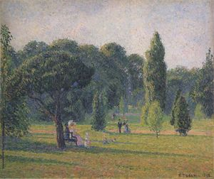 Camille Pissarro - Gardens At Kew, Sunset