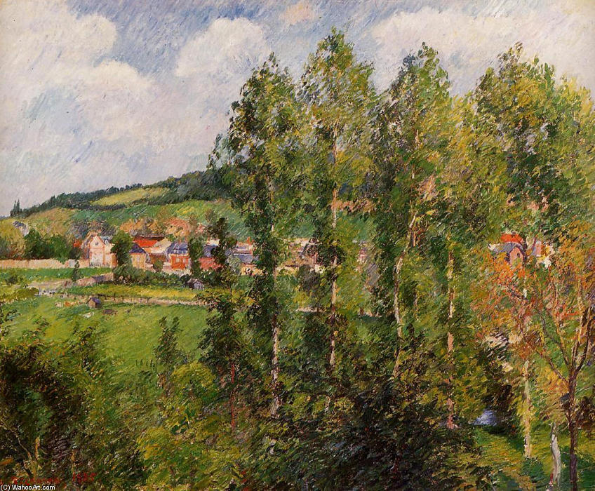 famous painting Gizors, New Section of Camille Pissarro