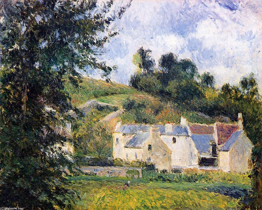 famous painting Houses of l'Hermitage, Pontoise of Camille Pissarro