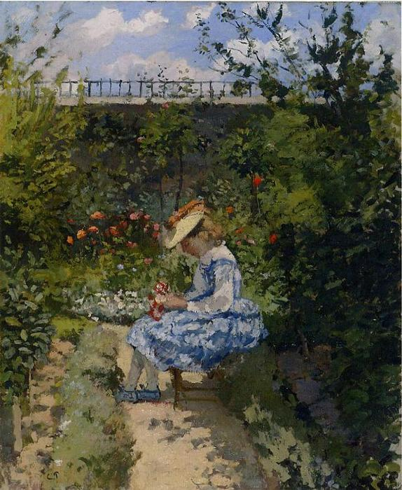 famous painting Jeanne in the Garden, Pontoise of Camille Pissarro