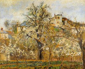 Camille Pissarro - Kitchen Garden witih Trees in Flower, Spring, Pontoise