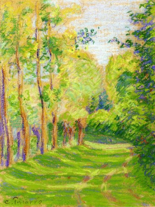 famous painting Landscape at Saint Charles of Camille Pissarro