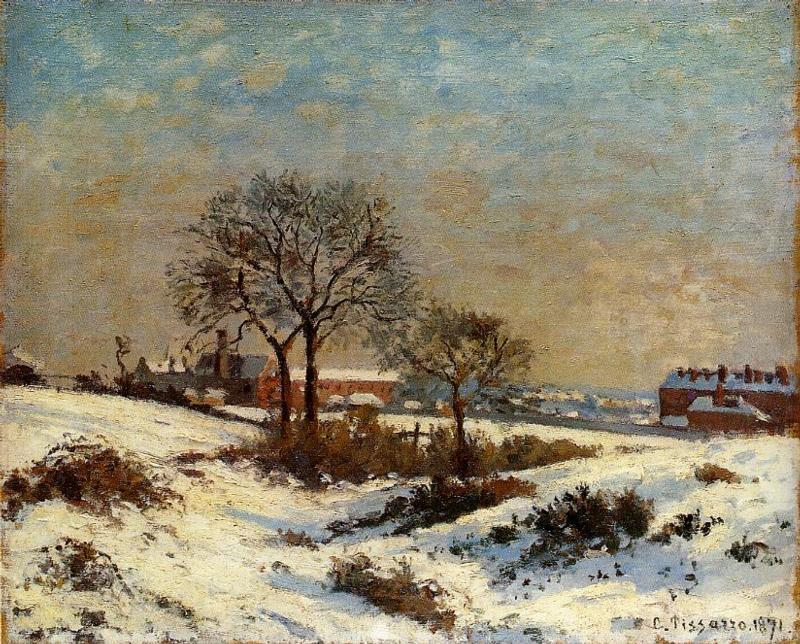 famous painting Landscape under Snow, Upper Norwood of Camille Pissarro