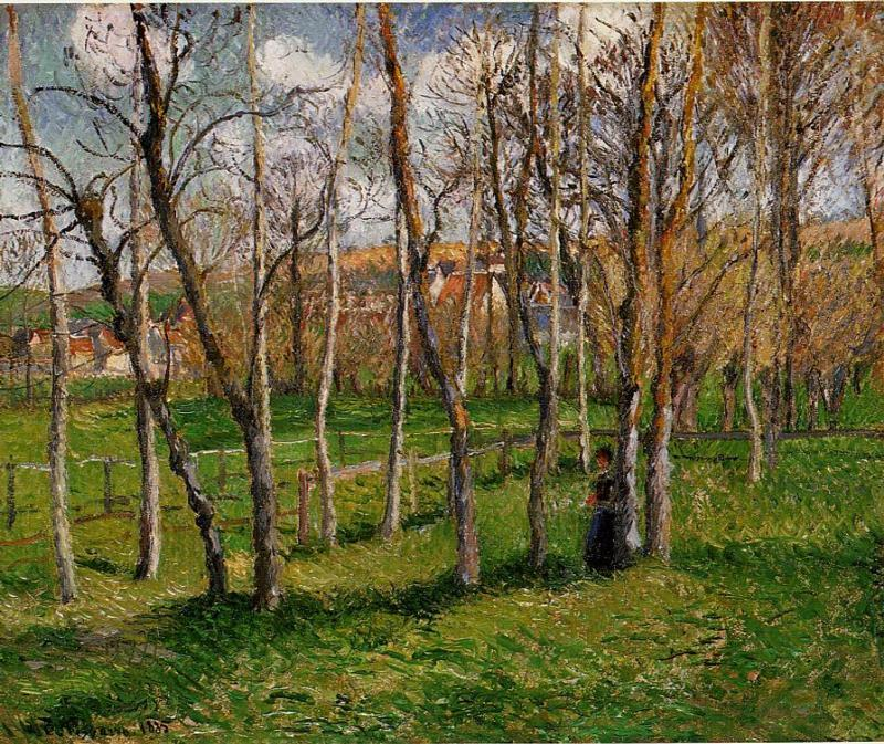 famous painting Meadow at Bazincourt 1 of Camille Pissarro