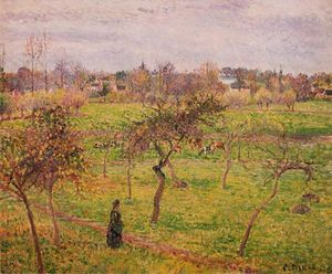 Camille Pissarro - Meadow at Eragny