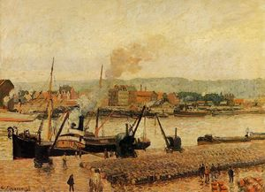 Camille Pissarro - Morning, after the Rain, Rouen
