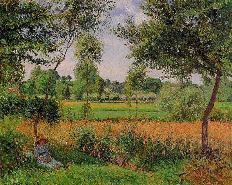 famous painting Morning, Sun Effect, Eragny of Camille Pissarro