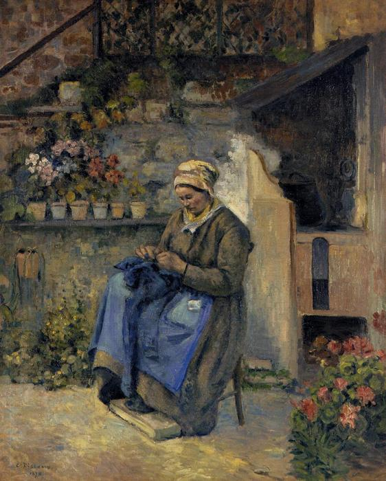 famous painting Mother Jolly of Camille Pissarro