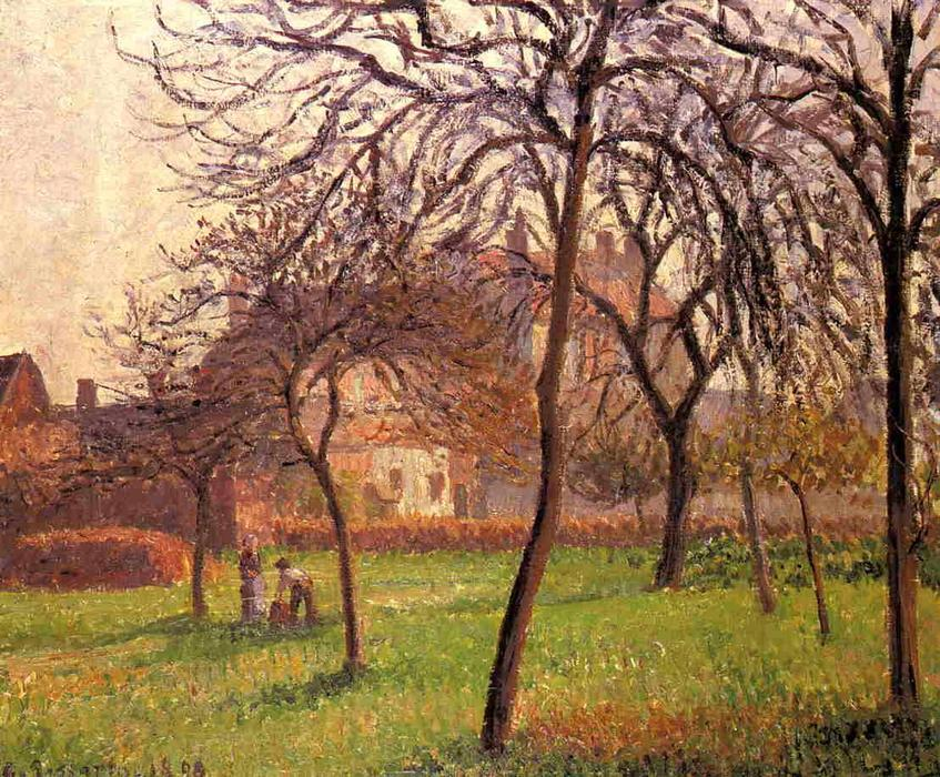 famous painting Mother Lucien s Field at Eragny of Camille Pissarro