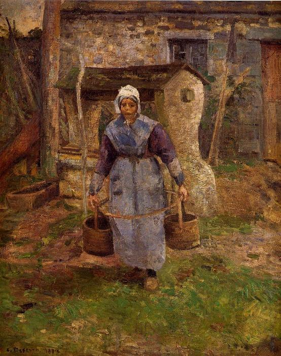 famous painting Mother Presle, Montfoucault of Camille Pissarro