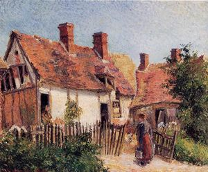 Camille Pissarro - Old Houses at Eragny 1