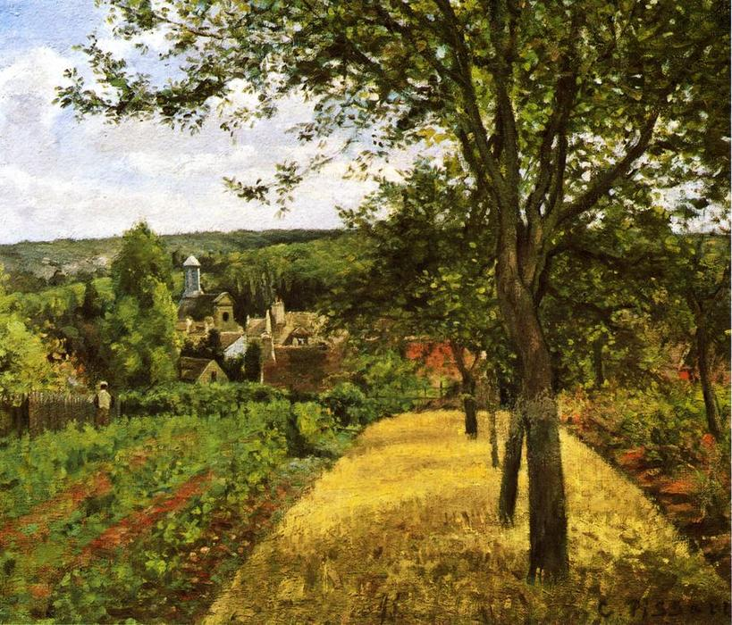 famous painting Orchards at Louveciennes of Camille Pissarro