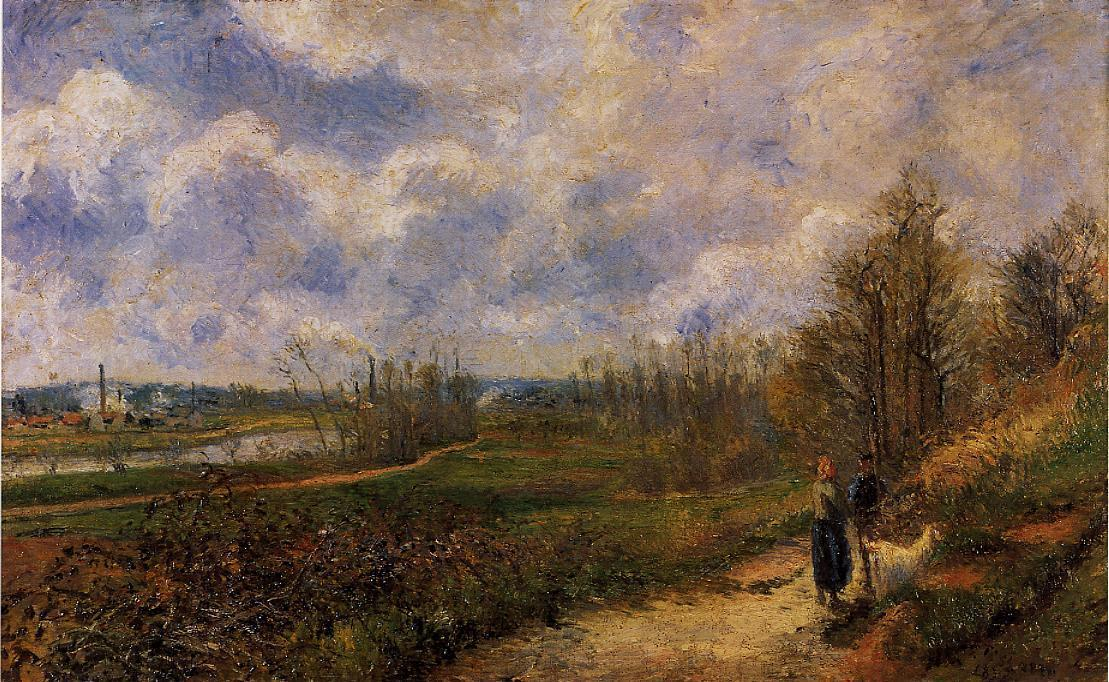 famous painting Path to Le Chou, Pontoise of Camille Pissarro