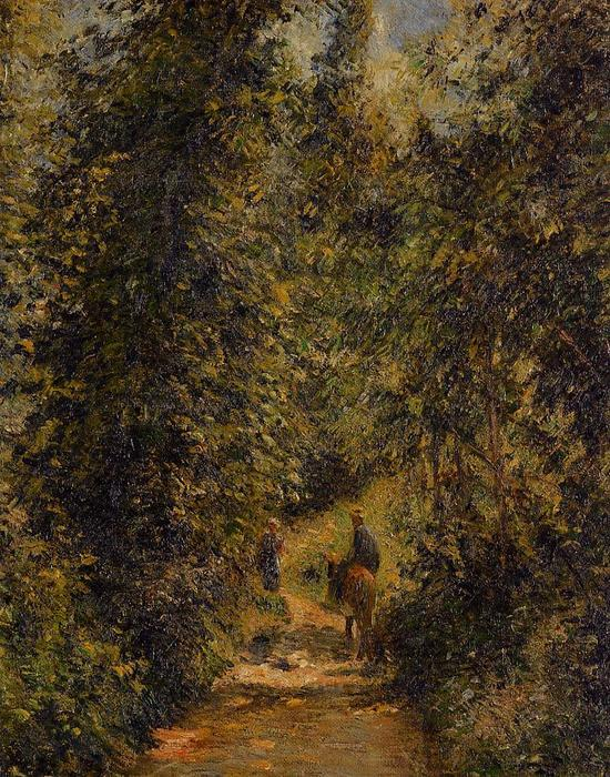famous painting Path under the Trees, Summer of Camille Pissarro