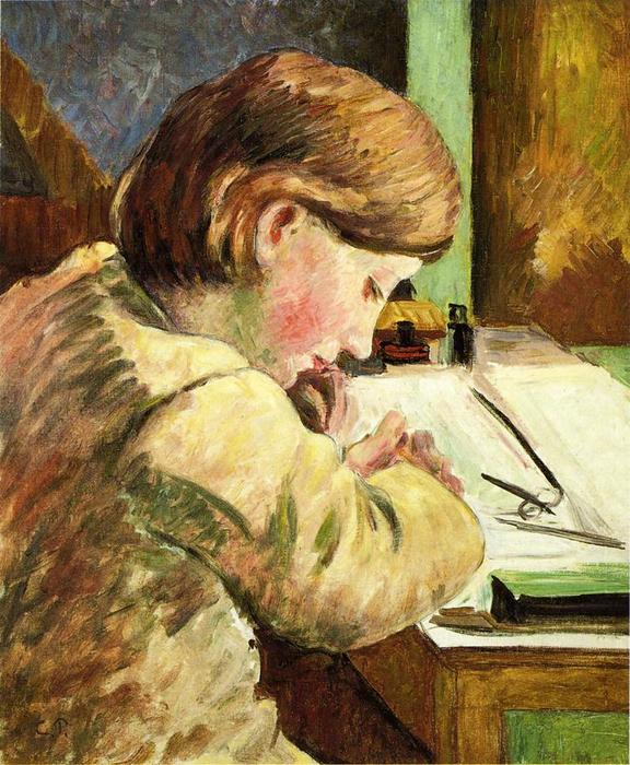 famous painting Paul Writing of Camille Pissarro