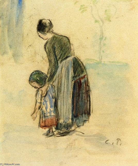 famous painting Peasant and Child of Camille Pissarro