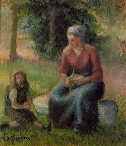Camille Pissarro - Peasant Woman and Her Daughter, Eragny