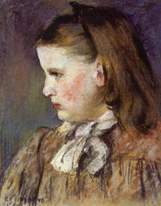 famous painting Portrait of Eugenie Estruc of Camille Pissarro