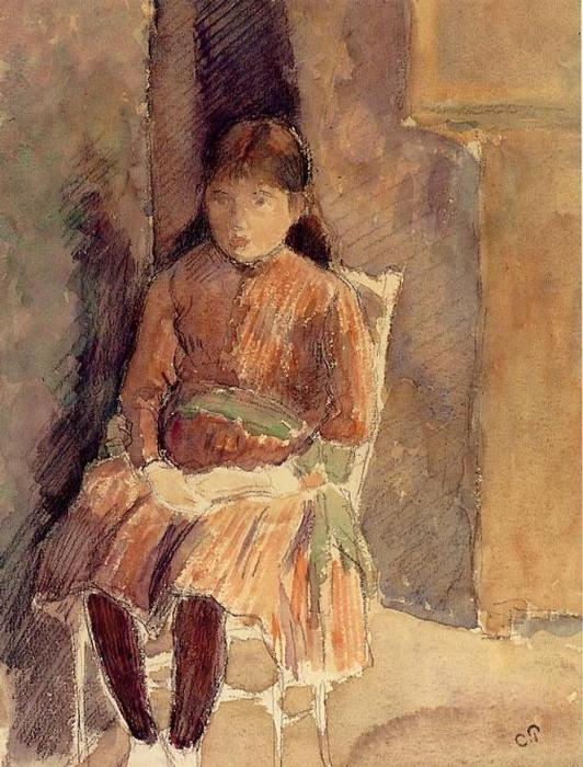 famous painting Portrait of Jeanne, the Artist's Daughter of Camille Pissarro