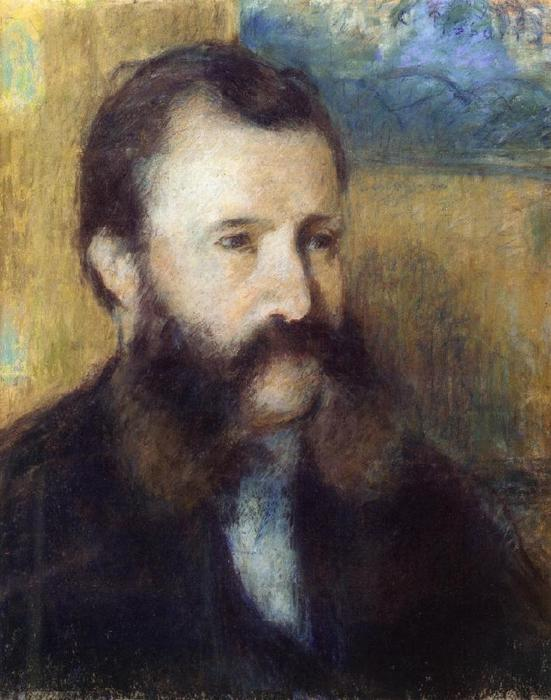 famous painting Portrait of Monsieur Louis Estruc of Camille Pissarro