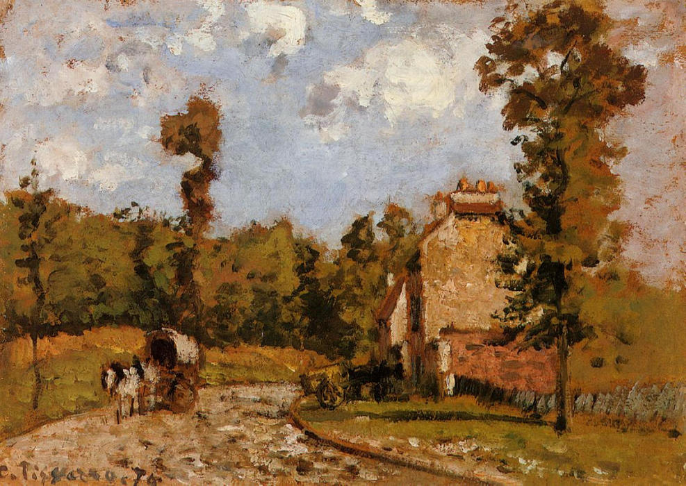 famous painting Road in Port Maryl of Camille Pissarro