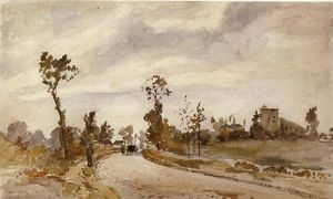 Camille Pissarro - Road to Saint Germain, Louveciennes
